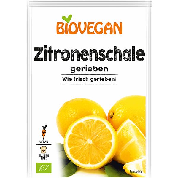 BIOVEGAN Zitronenschale gefriergetrocknet, gerieben, BIO
