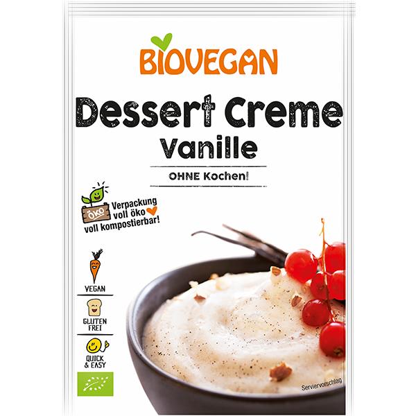 BIOVEGAN Vanille-Creme, ohne Kochen, BIO