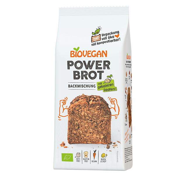 BIOVEGAN Brotbackmischung Power, BIO