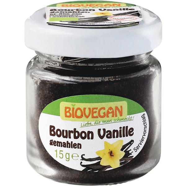 BIOVEGAN Vanille Bourbon gemahlen im Glas, BIO