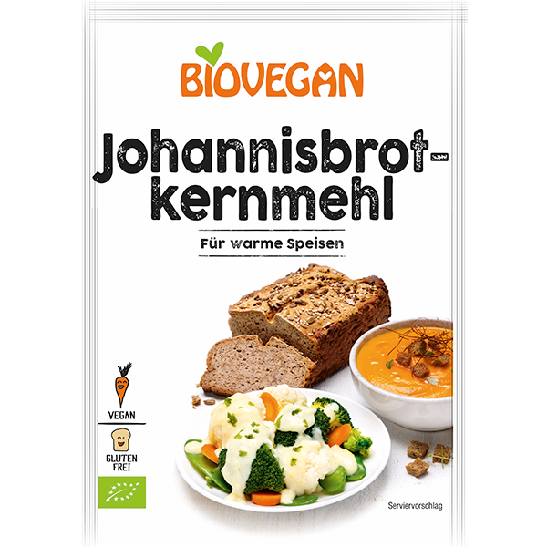 BIOVEGAN Johannisbrotkernmehl, BindeFIX, BIO