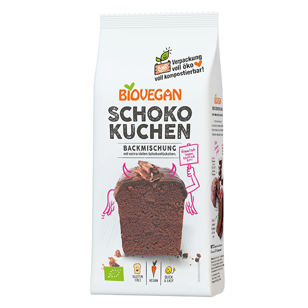 BIOVEGAN Schokoladenkuchen Backmischung, BIO