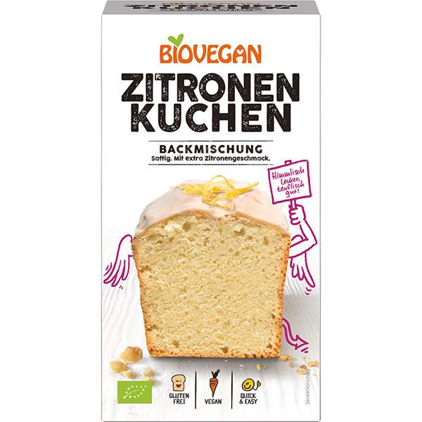 BIOVEGAN Zitronenkuchen Backmischung, BIO